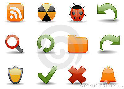 Web icons | Glossy part 4 Editorial Image