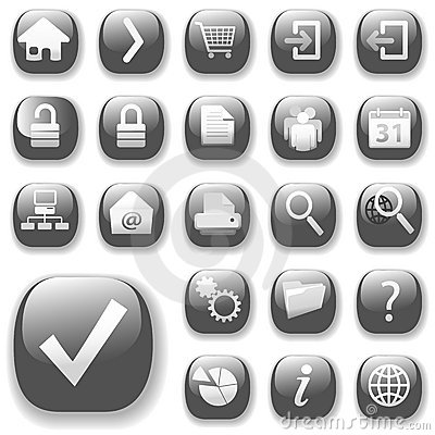 Free Web Icons Gray_DropShadows Royalty Free Stock Images - 2538119