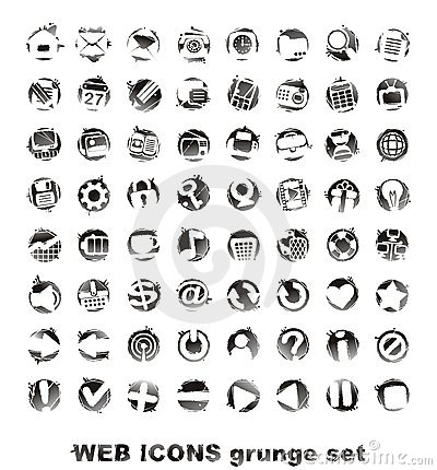 Web icons. grounge set