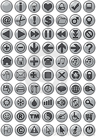Free Web Icons In Silver Stock Photos - 967283