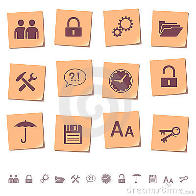 Web icons on memo notes 3