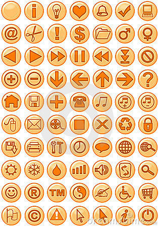 Web Icons in orange