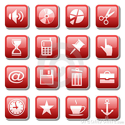 Free Web Icons. Part Three Royalty Free Stock Photo - 6021795