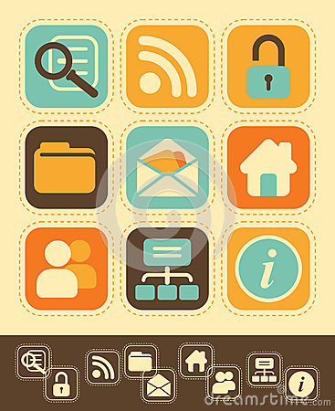 Web Icons in Retro-Style