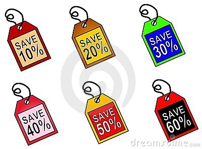 Web Icons Saving Money Tags
