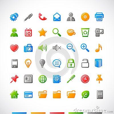 Free Web Icons Set Stock Photography - 10462912