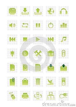 Free Web Icons Set 2 Stock Image - 4688641