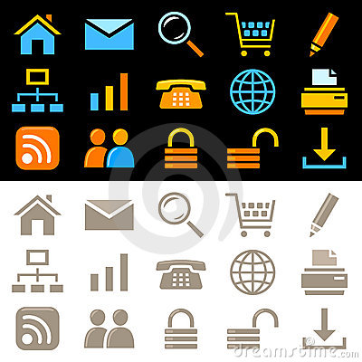 Web icons set Editorial Image
