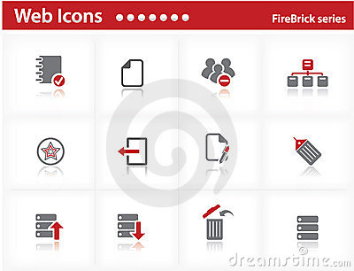 Web icons set - FireBrick series