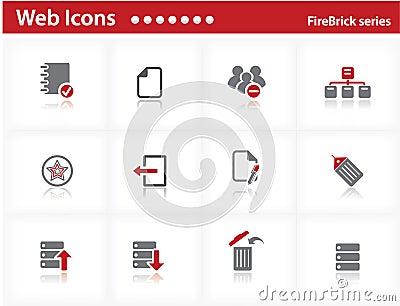 Web icons set - FireBrick series