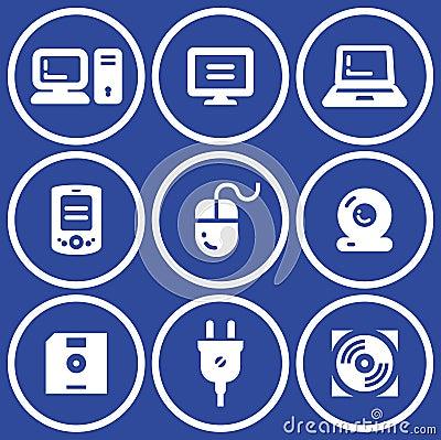 Web icons set – Hardware (Vector)