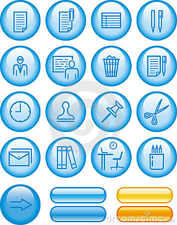 Web Icons Set – Office (Vector)