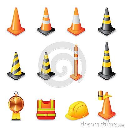 Free Web Icons - Traffic Warning Sign Royalty Free Stock Photos - 23595038