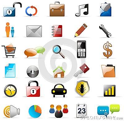 Free Web Icons Vectors Stock Photo - 15194440