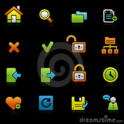 Web and internet colored icons, set 2