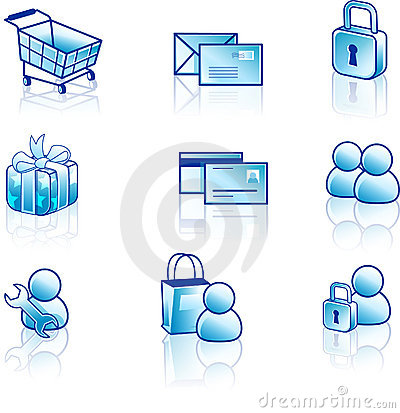 Web and internet icon set