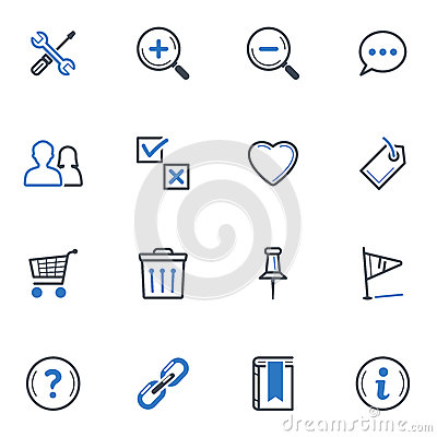 Web and Internet Icons Set 2 - Blue Series