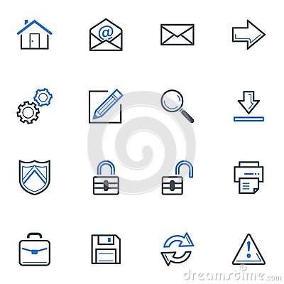 Web and Internet Icons Set 1 - Blue Series