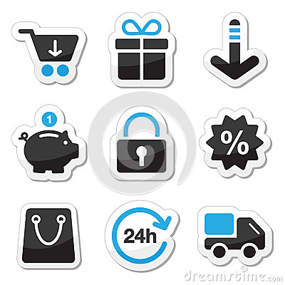 Web / internet icons set - shopping