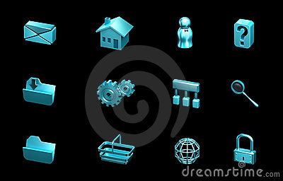 Web and internet icons. For websites, presentation