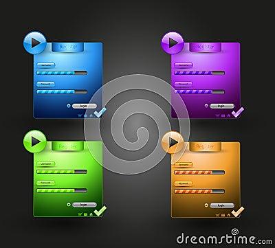 Web login element