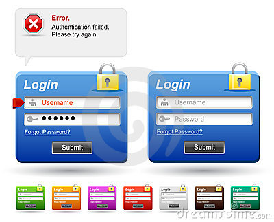 Web login form.