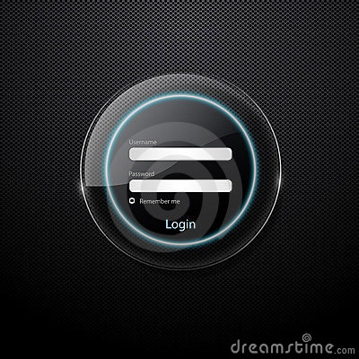 Web login form