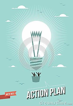 Free Web Marketing Action Plan Light Bulb Illustration Royalty Free Stock Photography - 32692797