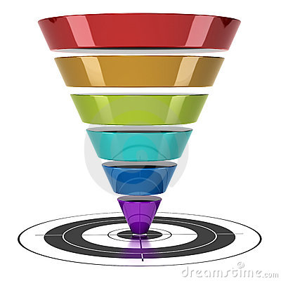 Free Web Marketing Conversion Funnel Royalty Free Stock Photos - 19228418