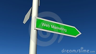 Web marketing sign