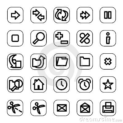 Web and media icon set