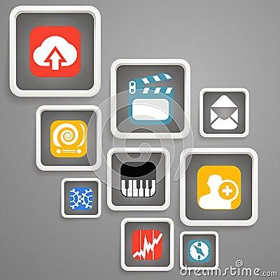 Web media icons