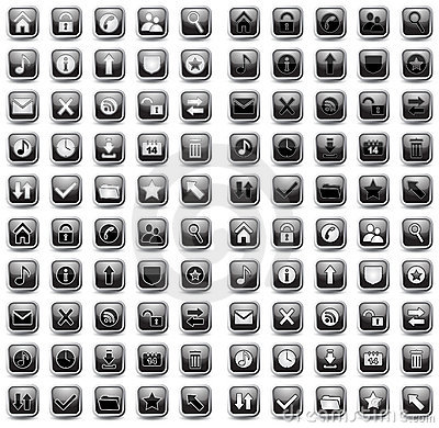 Web and Media Vector Icon Set
