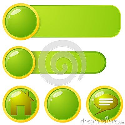 Web menu elements