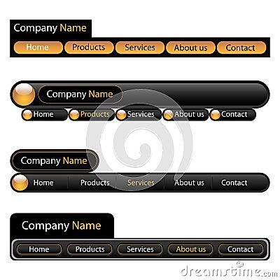 Web menu navigation template