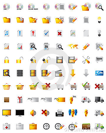 Web multimedia icons