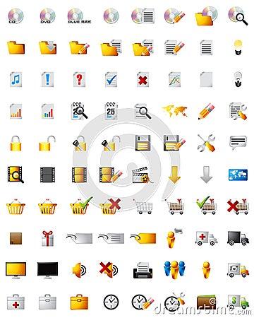 Web multimedia icons