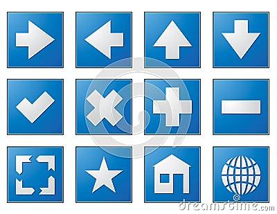 Web Navigation Buttons Blue Stock Images - Image: 8240864: https://www.dreamstime.com/stock-images-web-navigation-buttons-blue...