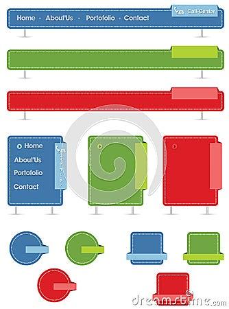 Web navigation menu