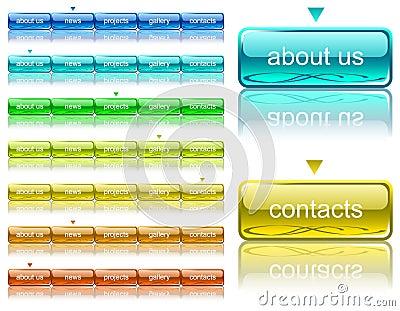 Web navigation template