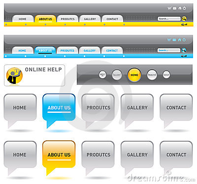 Web navigation templates.