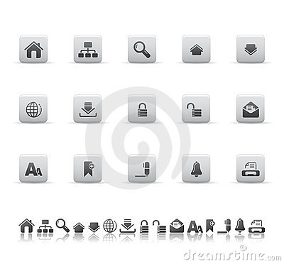 Web and office icons