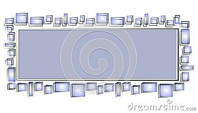 Web Page Logo Blue Squares