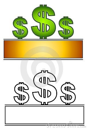 Web Page Logo Dollar Signs 3