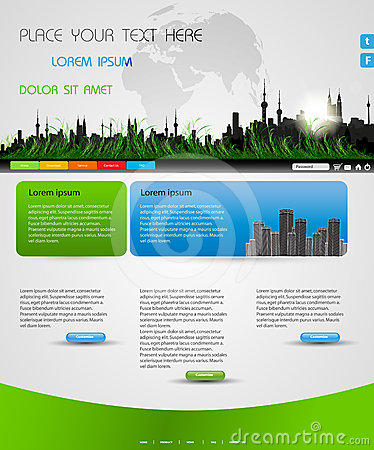 Web page nature layout
