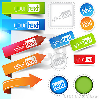 Free Web Page Sticker Designs Stock Photos - 19206183