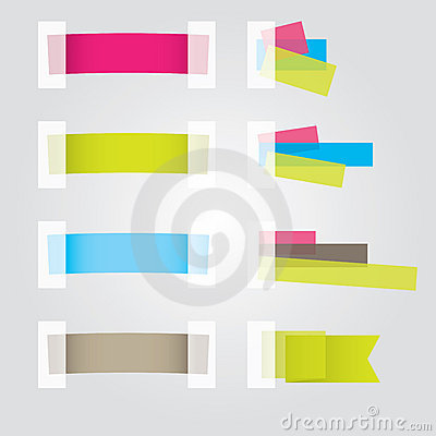 Free Web Page Sticker Designs. Vector Illustration Stock Images - 19373504