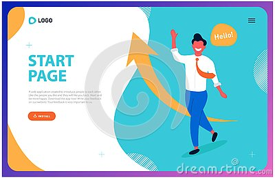 Web page for a successful business Vector Illustration