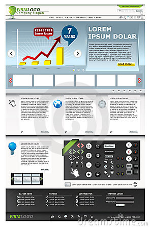 Web pages templates.