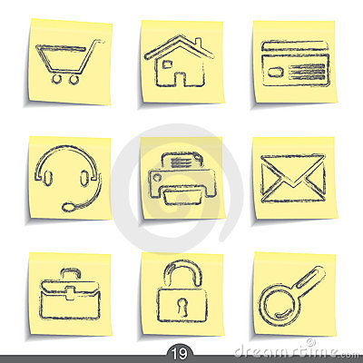 Web post it icons..series no.19